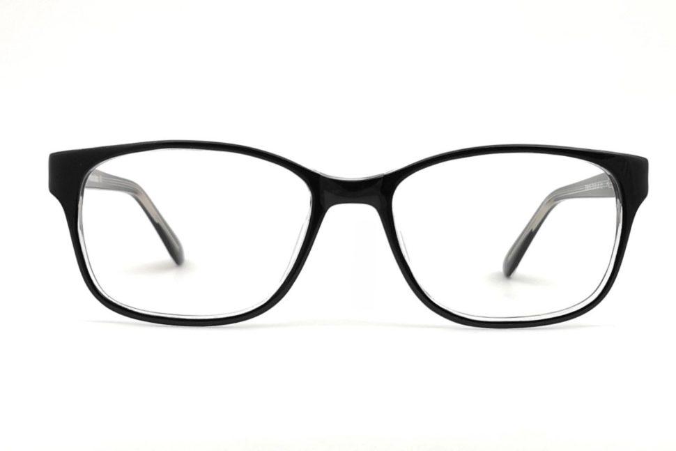 Okuliare filtrujúce modré svetlo pre dámy čierne pohľad spredu