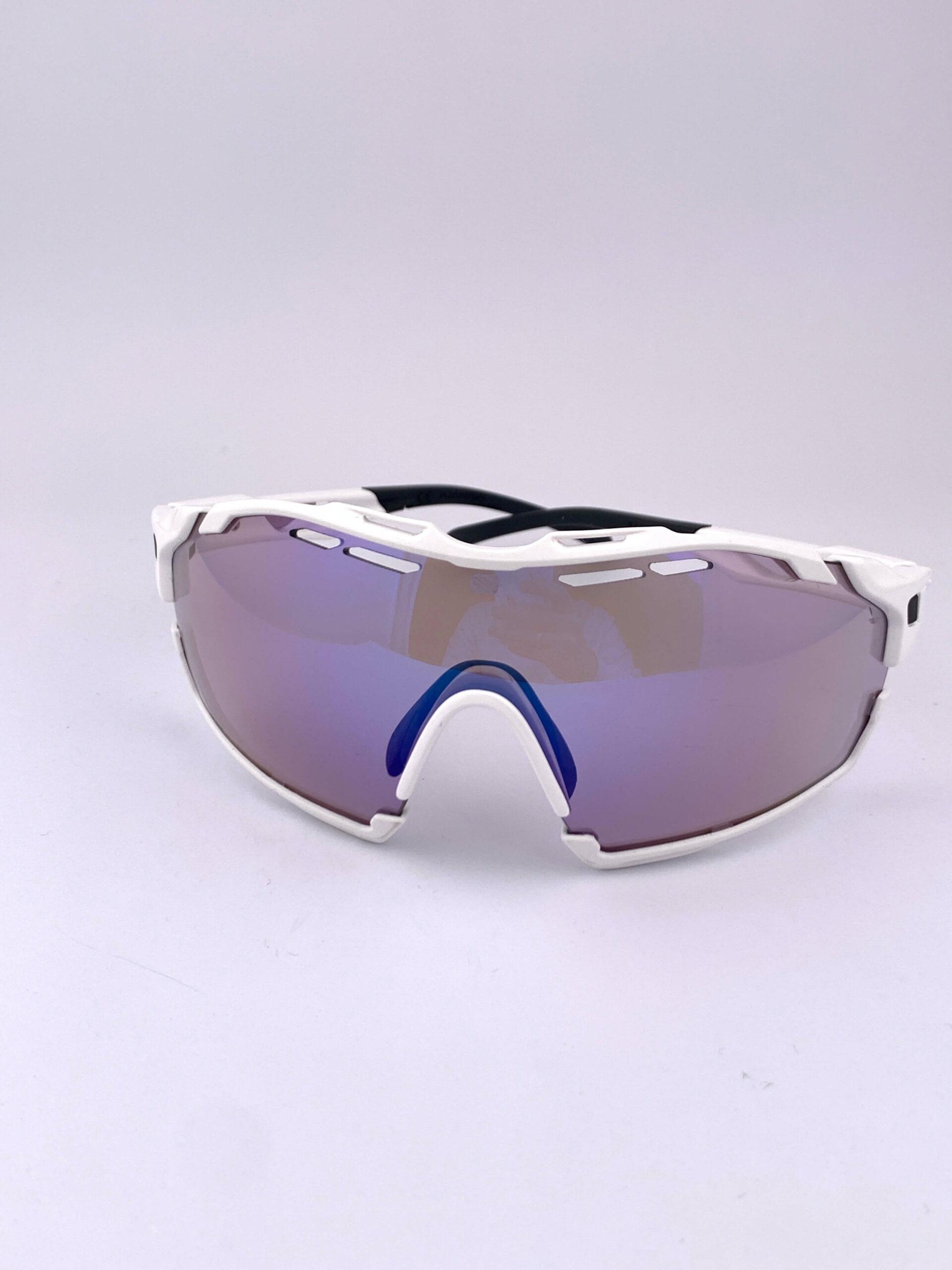 Cyklistické okuliare Cutline biele