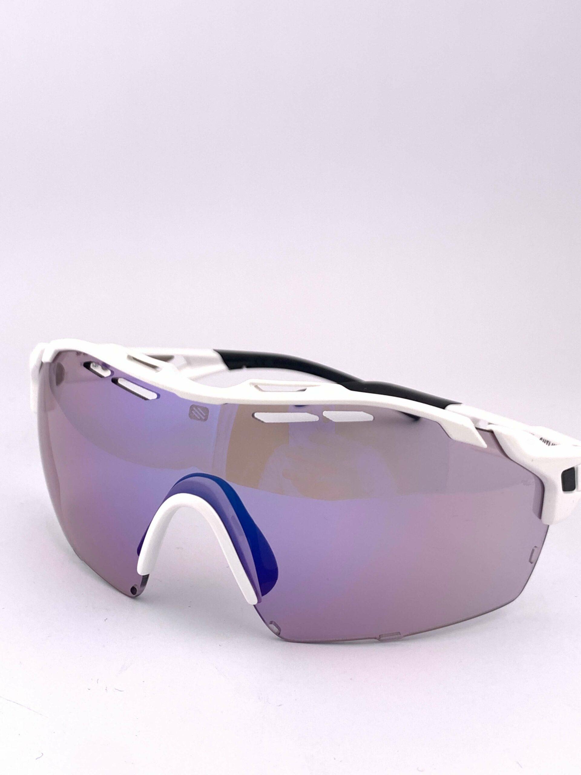 Cyklistické okuliare Cutline biele bok zprava