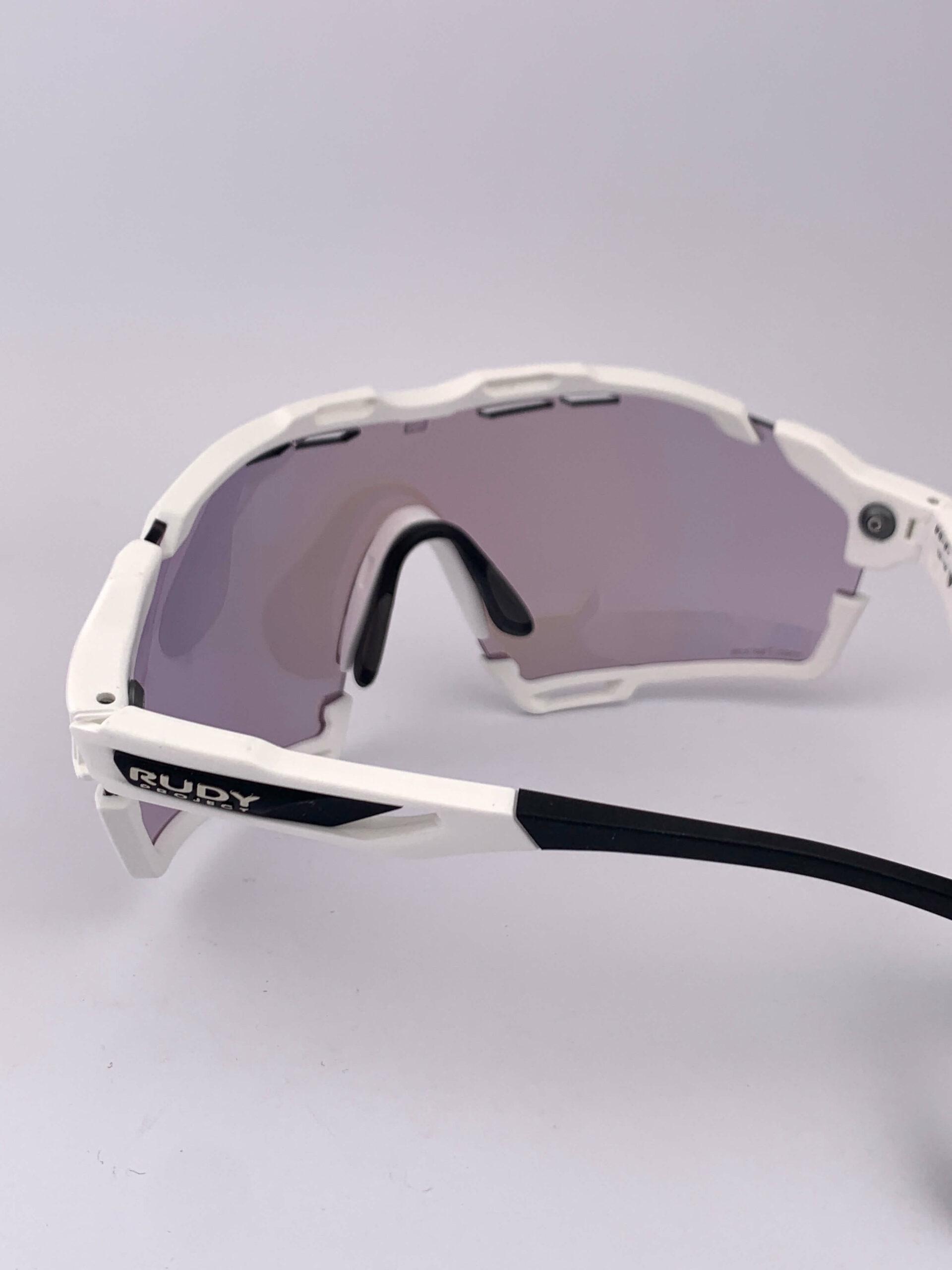 Cyklistické okuliare Cutline biele zozadu