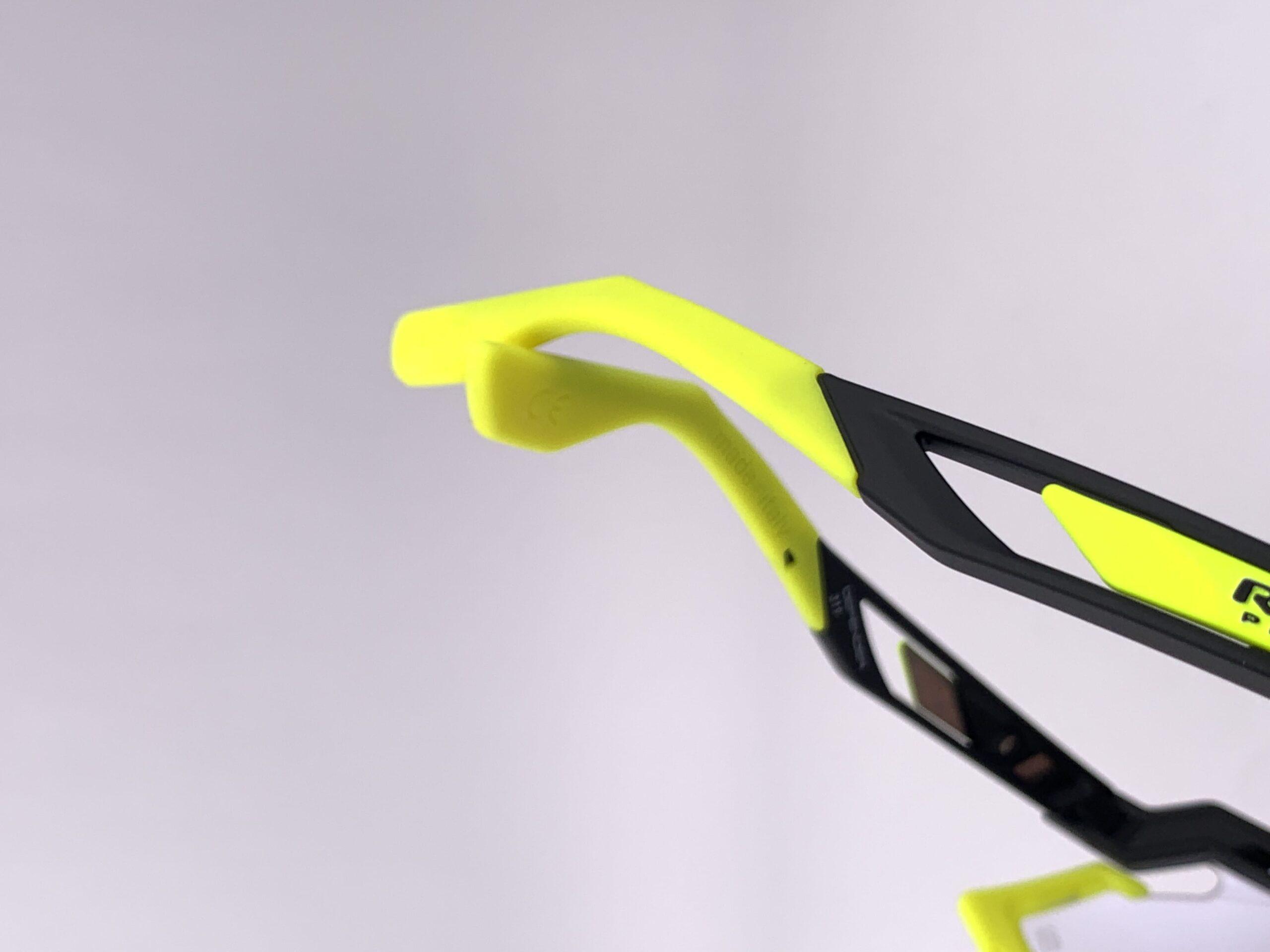 Cyklistické okuliare Defender žlté fluo bočnice