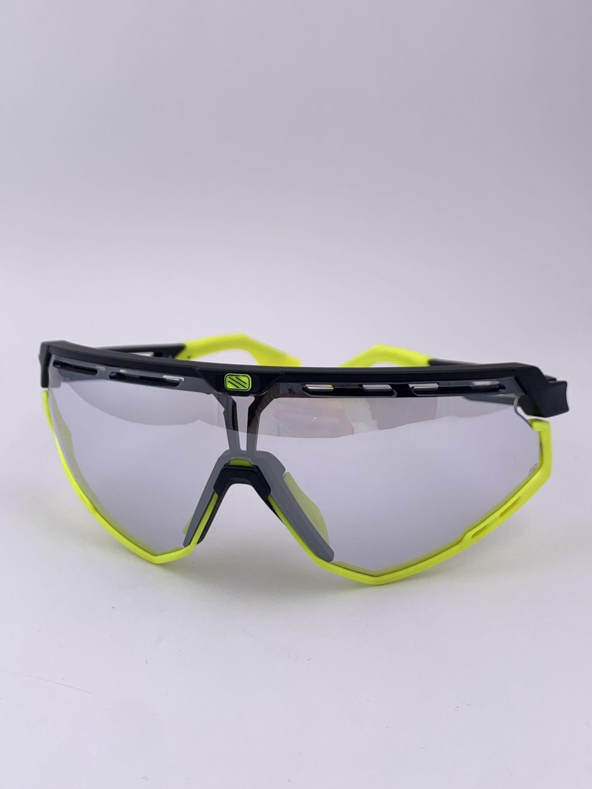 Cyklistické okuliare Defender žlté fluo