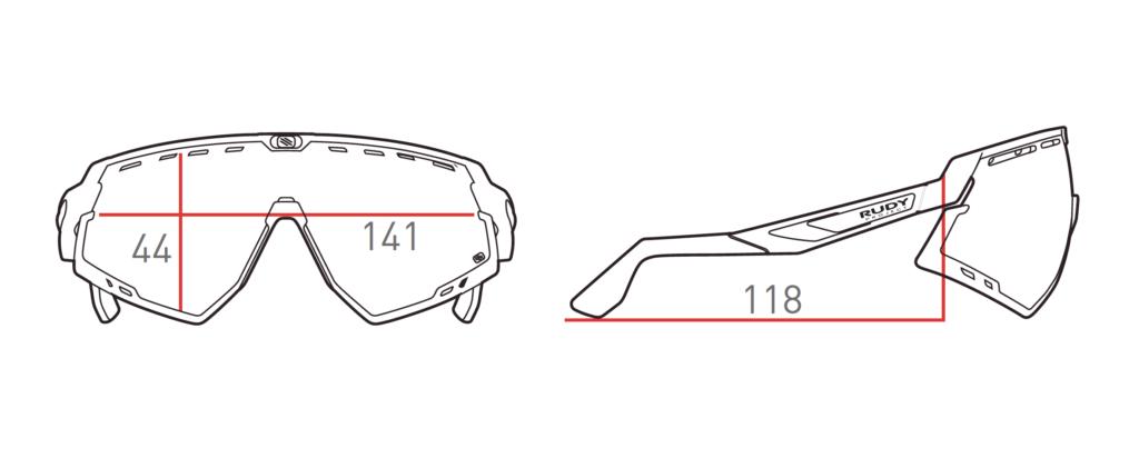 Cyklistické okuliare RUDY PROJECT Defender rozmery