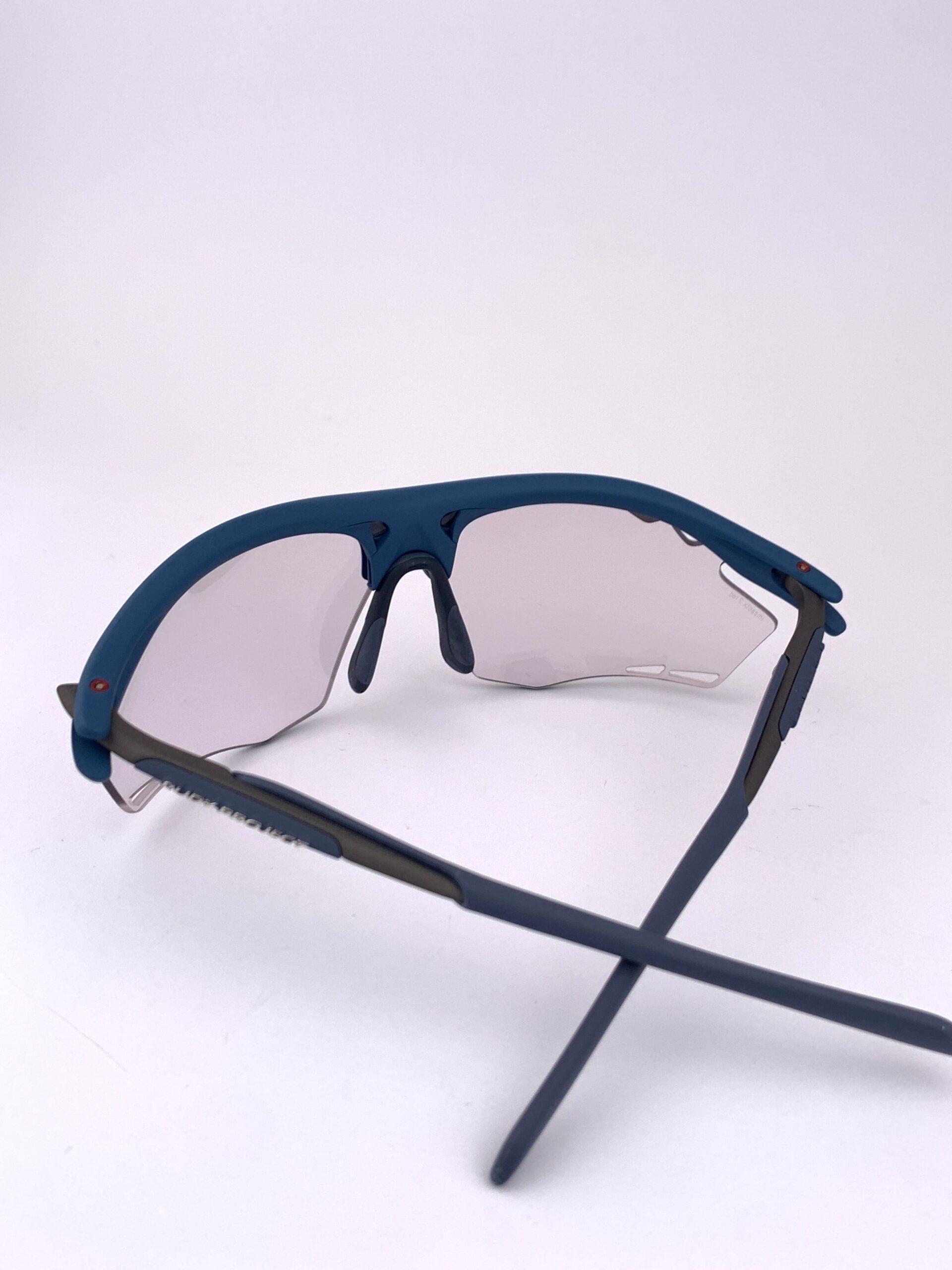 Cyklo okuliare Rydon modré zozadu