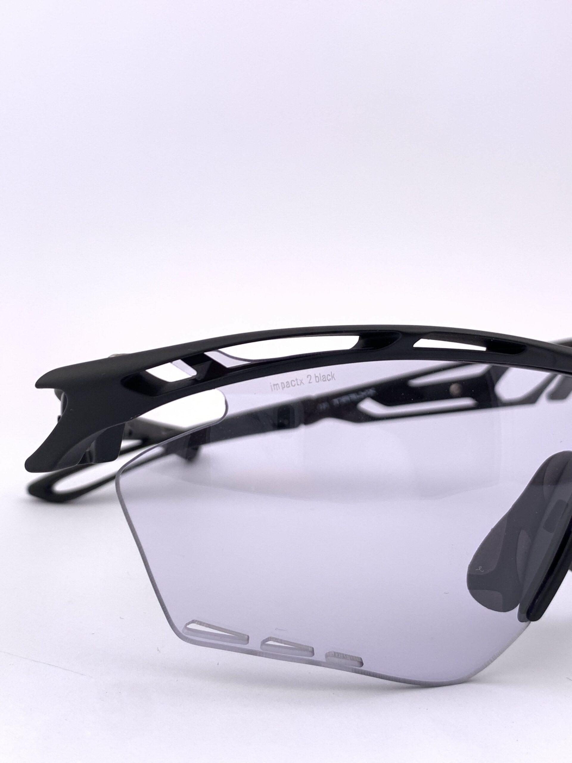 Cyklistické okuliare Tralyx čierne detail