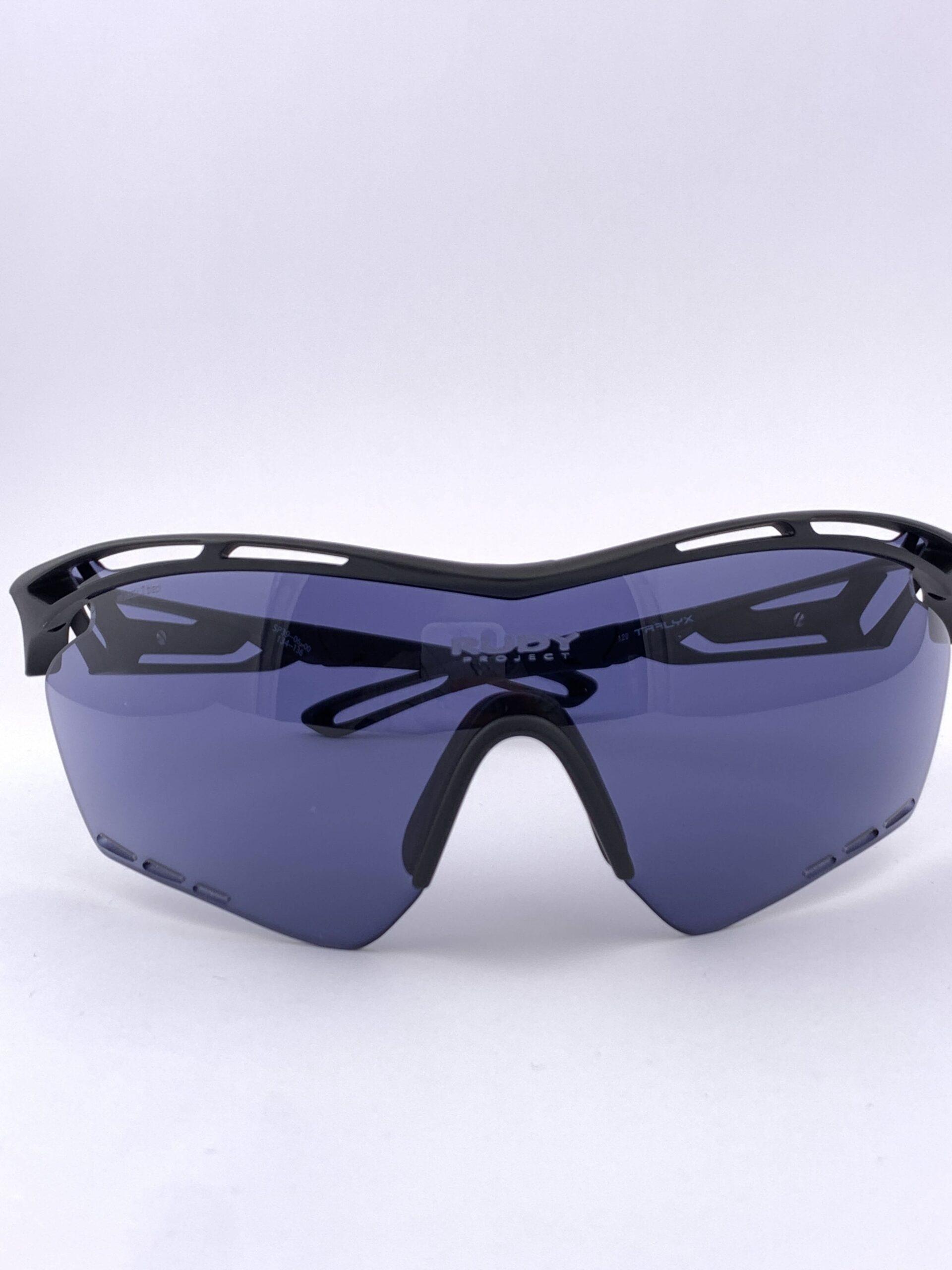 Cyklo okuliare Tralyx čierne zatmavené