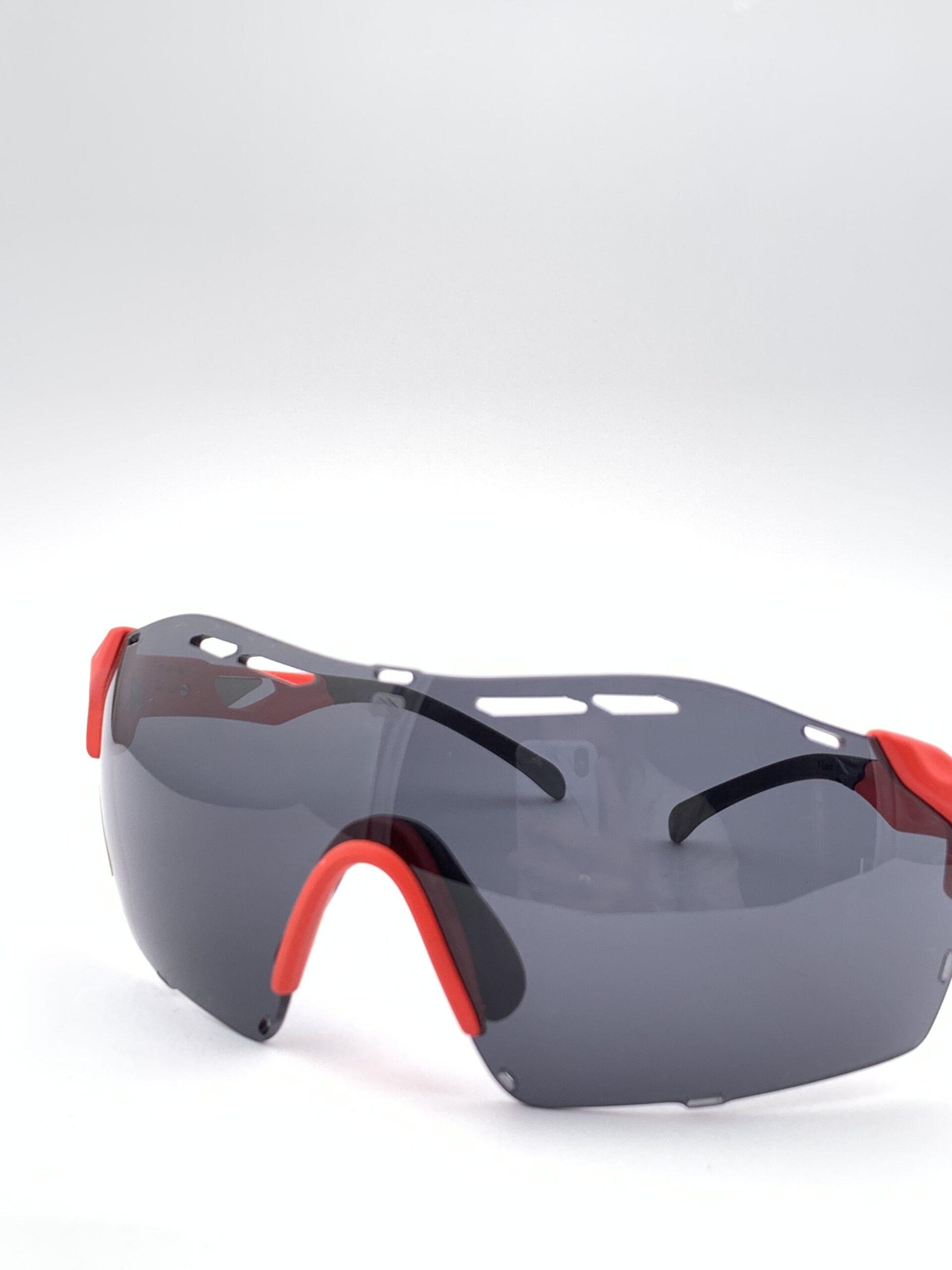 Cyklistické okuliare Cutline červené pohľad zprava