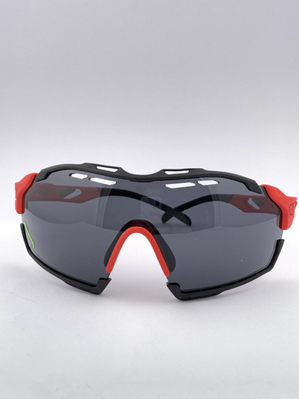 Cyklistické okuliare Cutline červené predný pohľad