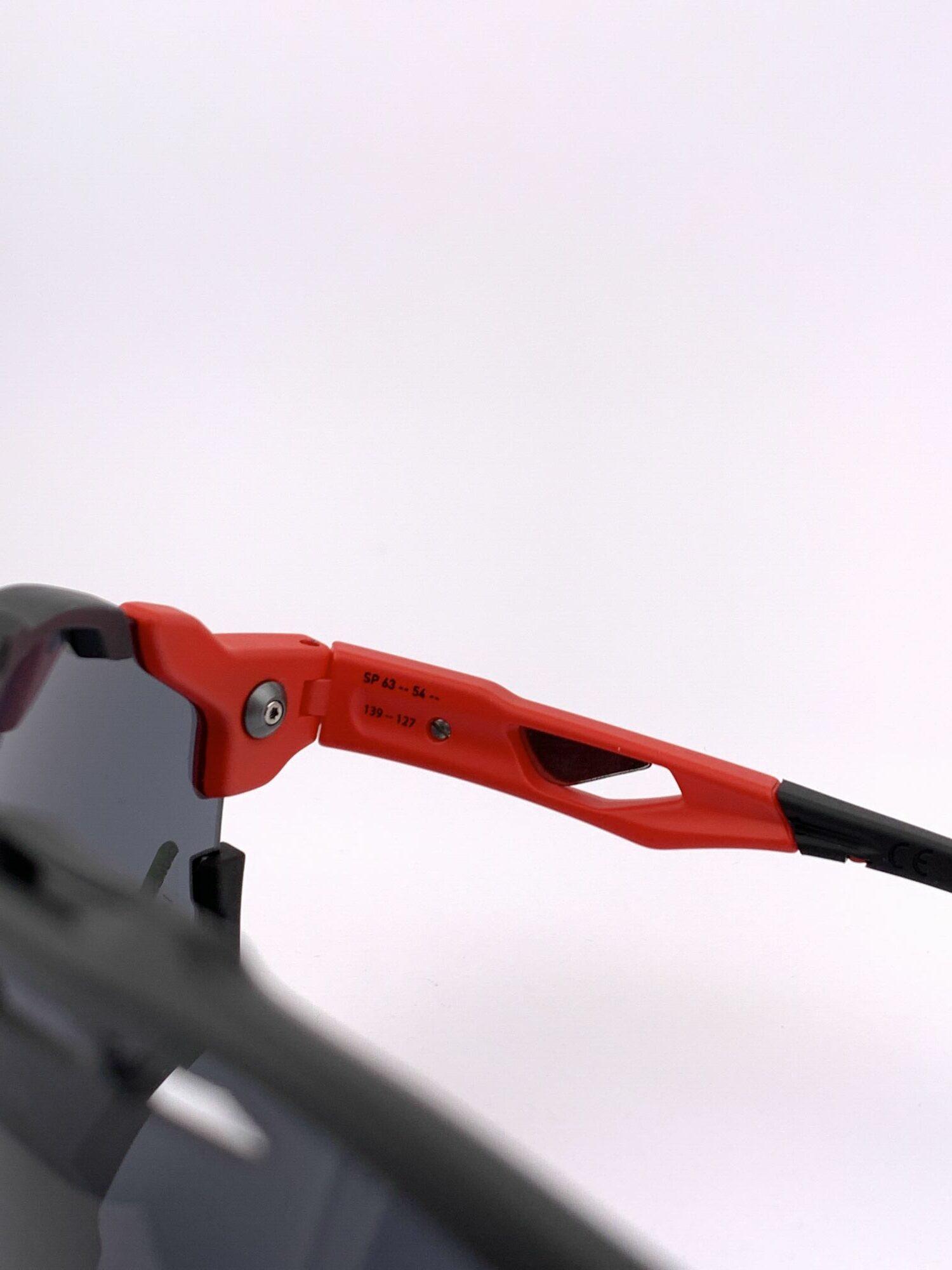 Cyklistické okuliare Cutline červené stranica zvnútra