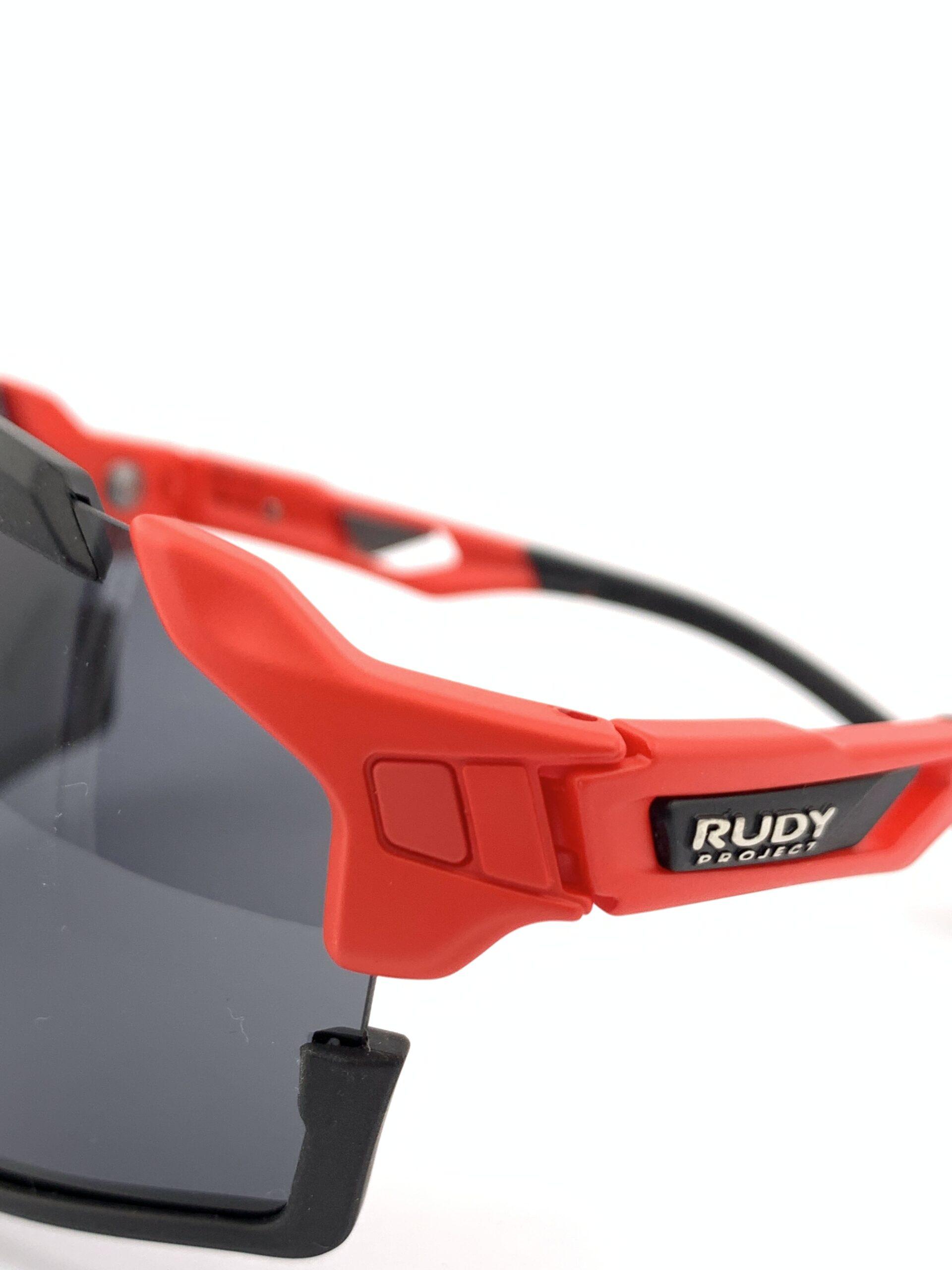 Cyklistické okuliare Cutline červené stranica zvonku