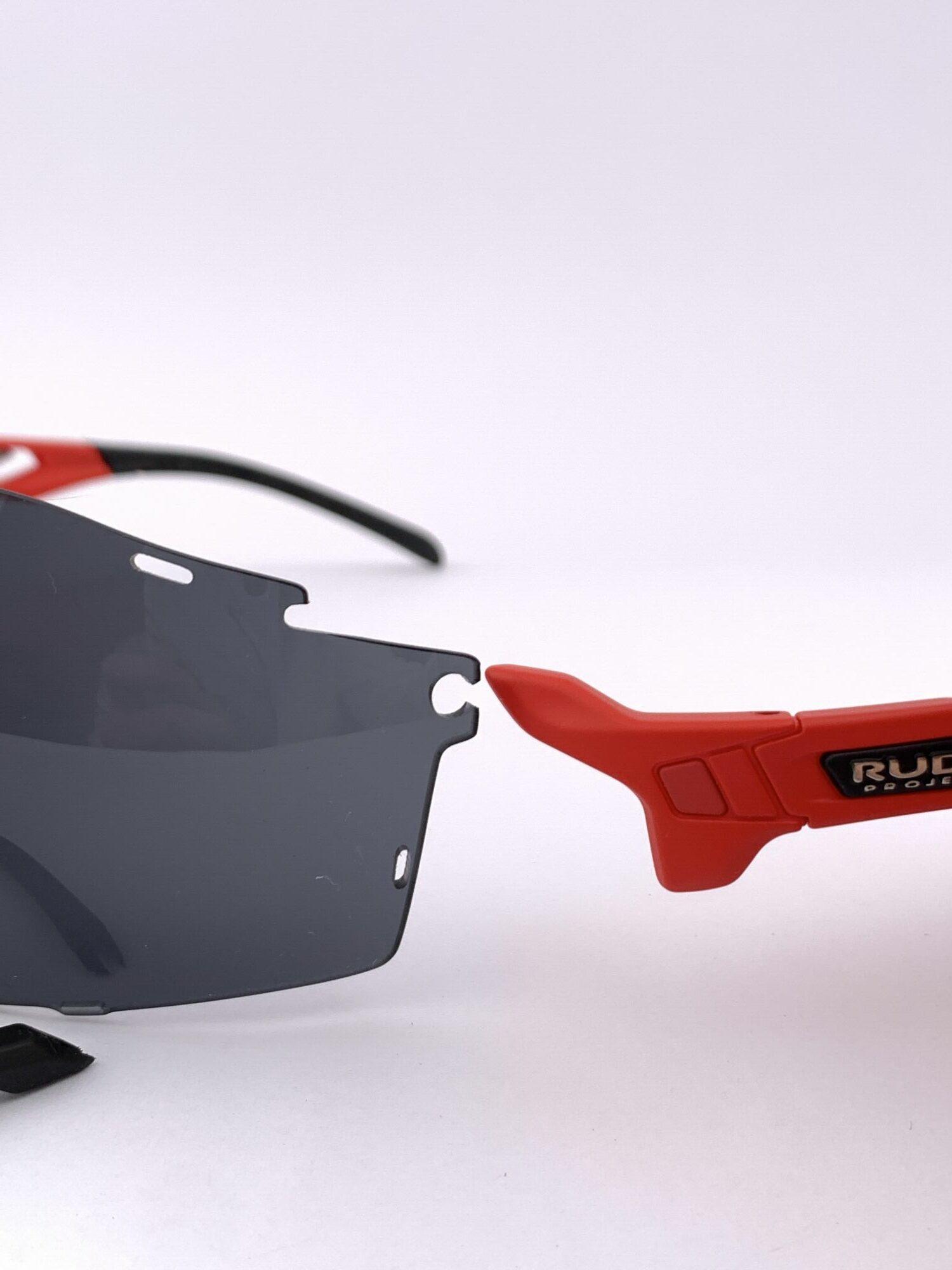 Cyklistické okuliare Cutline červené vymeniteľná stranica